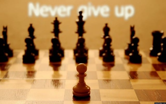 never give up chess