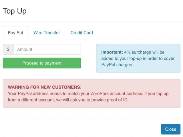zeropark review case study payment method