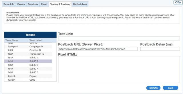 Adsbridge Review Tutorial setup postback cake