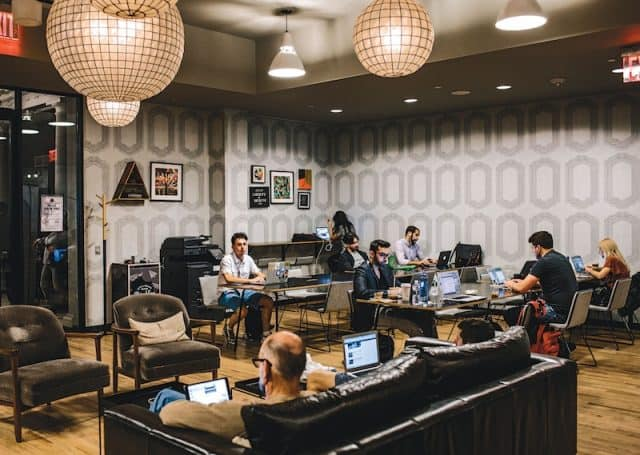 affiliate marketing in real life office vs home office - coworking space