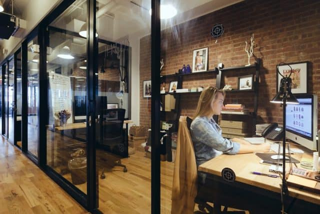 affiliate marketing in real life office vs home office - dedicated office