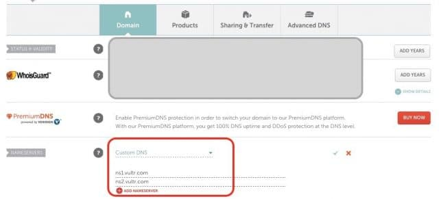 Vultr VPS Landing Pages Namecheap DNS Setup