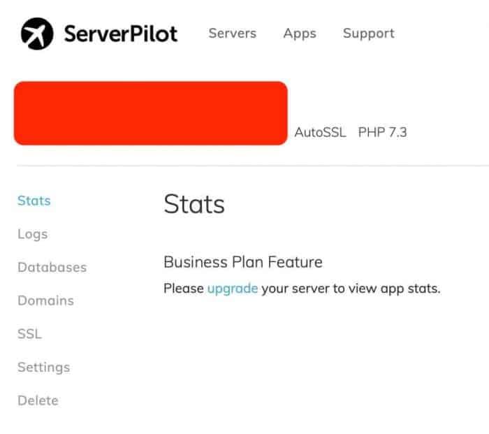 vultr vps ssl serverpilot - serverpilot app dashboard