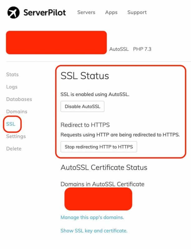 vultr vps ssl serverpilot - serverpilot ssl
