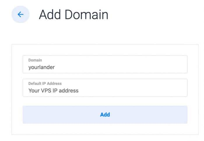 vultr vps ssl serverpilot - vultr add domain