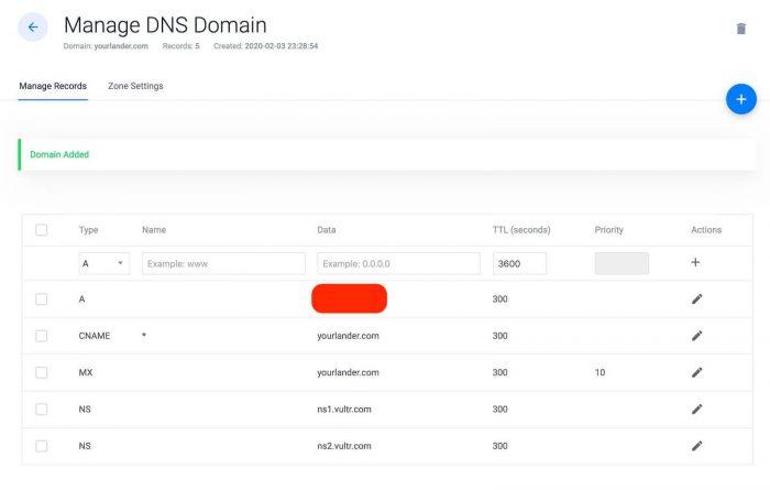 vultr vps ssl serverpilot - vultr domain manager