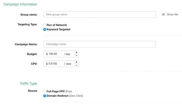 Make Money Domain Redirect SelfAdvertiser Campaign
