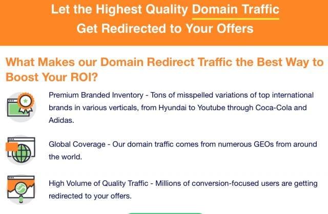 Make Money Domain Redirect SelfAdvertiser Features