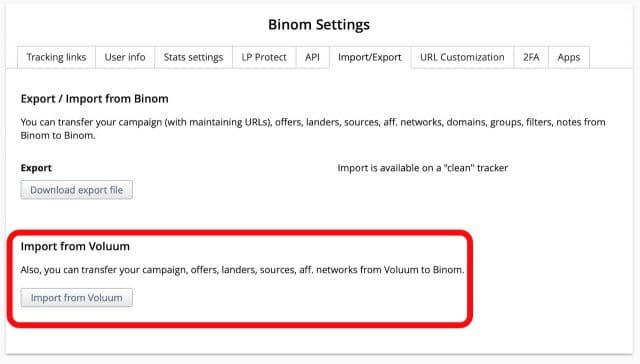 Binom Tracker Review Coupon - Import Voluum