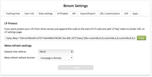 Binom Tracker Review Coupon - LP protection