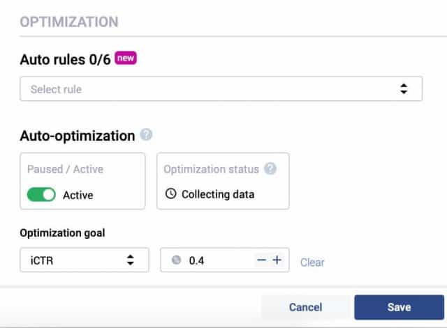 Voluum DSP Rules and Auto Optimization