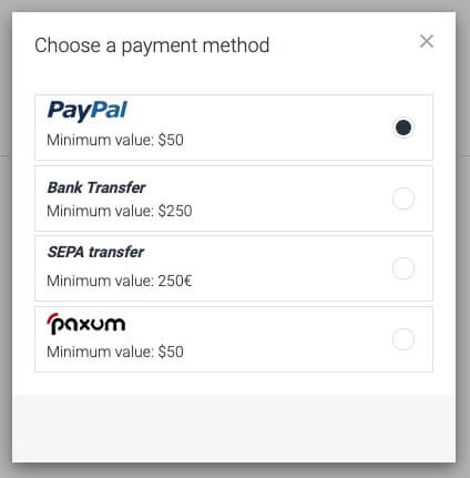 mobidea payment method