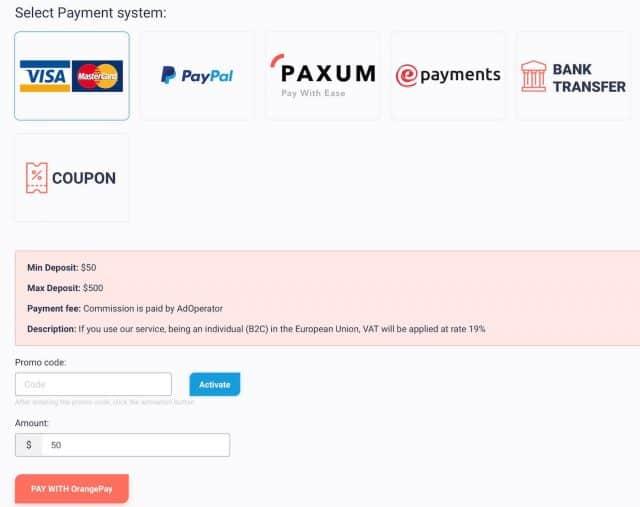 adoperator payment methods