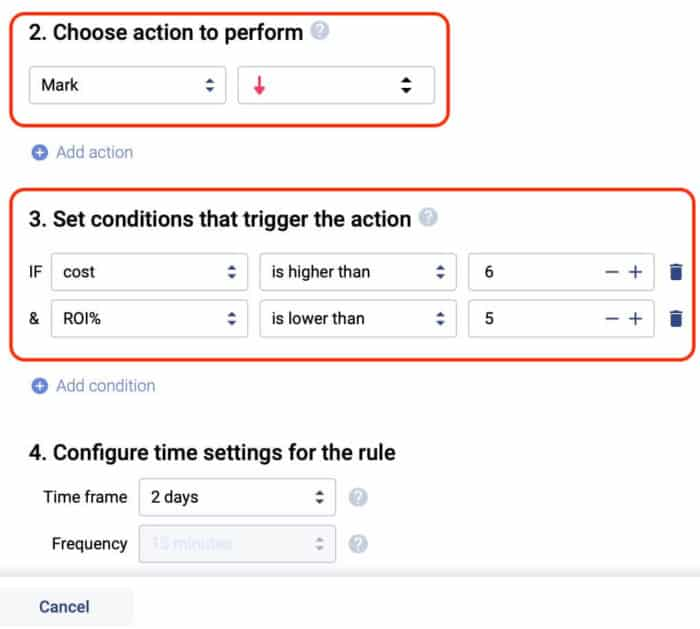 Voluum Automizer campaign auto optimization - Marks Rule