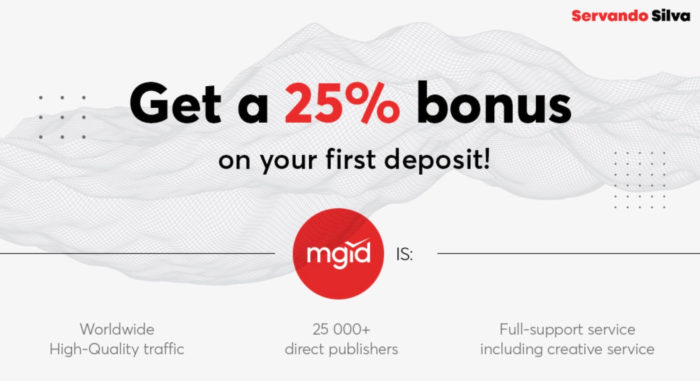 MGID case study - 25% bonus