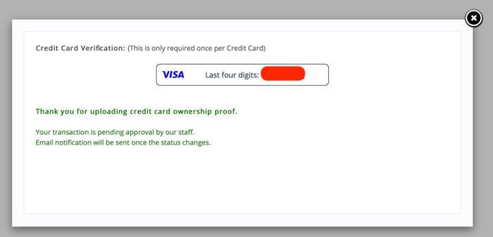 bidvertiser review - CC validation